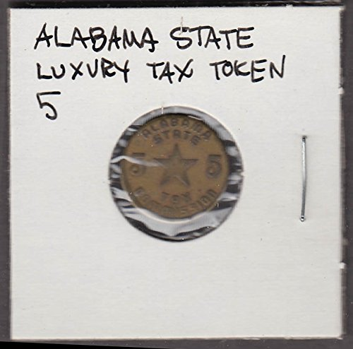 Alabama State Luxury Tax Commission Token 5 cent token