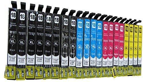 20 komp. XL Druckerpatronen ersatz für Epson Expression XP 30 102 202 205 215 225 302 305 312 315 322 325 402 405 412 415 422 425 8x schwarz, 4x cyan, 4x magenta, 4x gelb