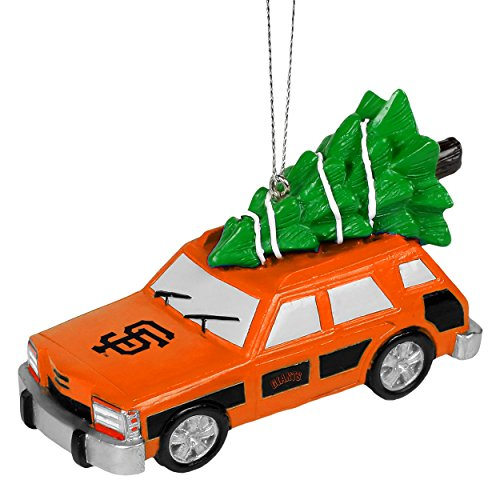 San Francisco Giants Official MLB Holiday Christmas Ornament Station Wagon With Tree by Forever Collectibles 546429