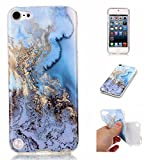 iPod 5 / iPod 6 Sea&Blue Marble Case,IVY [Marble] iTouch 5th 6th TPU Case Cover for iPod Touch 5 / iPod Touch 6 Phone