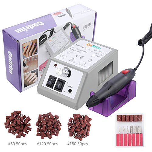 Electric Nail Drill Cadrim Nail Drill Machine Nail File Drill Set Kit for Acrylic Nails Gel Nail Glazing Nail Drill Nail Art Polisher Sets Glazing Nail Drill Fast Manicure Pedicure