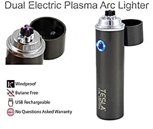 Tesla Coil Lighters™ 360° Dual Arc USB Rechargeable Windproof Electrical Plasma Arc Lighter