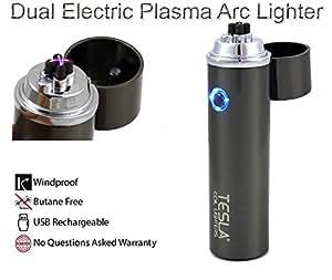 Tesla Coil Lighters™ 360° Dual Arc USB Rechargeable Windproof Electrical Plasma Arc Lighter