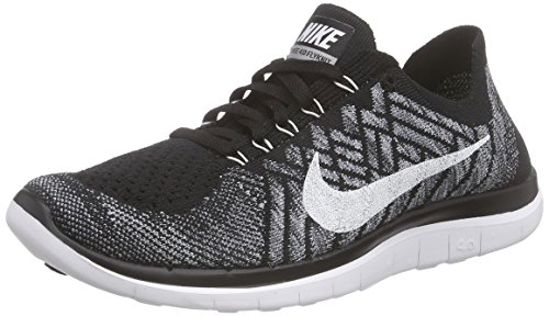 c20ad0a055f8f Nike Men s Free 4.0 Flyknit Running Shoes 717075-001 Black White (10.5) -  Buy Online in UAE.