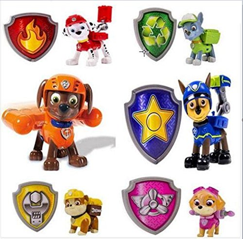 One Set Paw Patrol Action Pack Pup Deformation Dog Backpack Figures Toy + Shield Toys