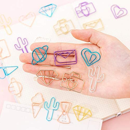 Panel Screws 10 pcs//pack cute Cactus star Ice Cream Mini Paper Clips Kawaii Stationery Metal Clear Binder Clips Photos Tickets Notes Letter Nails Fasteners Color : Cactus
