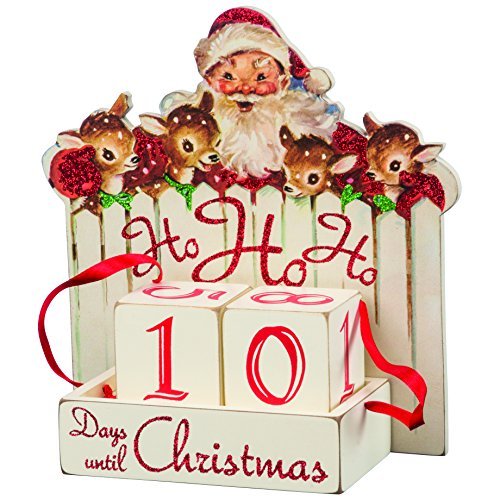 Primitives by Kathy Vintage Christmas Wood Countdown Box, Ho