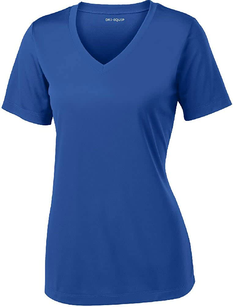Women's Short Sleeve Moisture Wicking Athletic Shirt-Royal-2XL