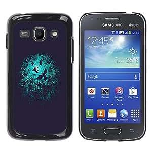 Be Good Phone Accessory // Dura Cáscara cubierta Protectora Caso Carcasa Funda de Protección para Samsung Galaxy Ace 3 GT-S7270 GT-S7275 GT-S7272 // Night Birds Black Minimalist