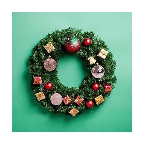 Pveath - Palline decorative, multicolore, infrangibili, per feste di matrimonio e Natale, 6 cm, 24 pezzi Oro rosato 4 spesavip