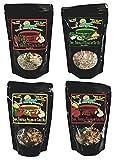 vegan quesadilla - Great Life By Lucinda Variety 4 Pack - Naturally Vegan Soup Mix - Garden Veggie Lentil - Mild Smokey Black Bean - Cajun Lentil - Spicy Chipotle Black Bean