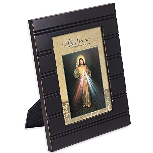 Cottage Garden Lord is My Light Divine Mercy 8 x 10 Distressed Black Accent Picture Frame Plaque ()