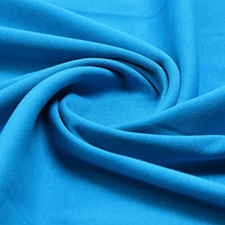 a3a44f377f7 Plain Turquoise 100% Cotton Interlock Double Jersey Fabric 158cm Wide Per  meter - (TURQUOISE): Amazon.co.uk: Kitchen & Home