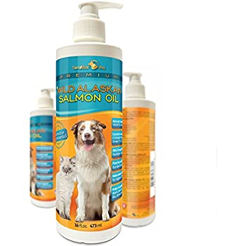 Premium Wild Alaskan Salmon Oil for Dogs and Cats ? All-Natural Omega-3 Food Supplement ? over 15 Omega's ? EPA - DHA Fatty Acids ? Natural Astaxanthin - Vitamin D ?! 16 FL OZ