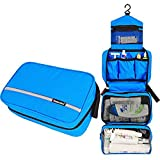 Relavel Cosmetic Pouch Toiletry Bags Travel Business Handbag Waterproof Compact Hanging Personal Care Hygiene Purse (Blue)