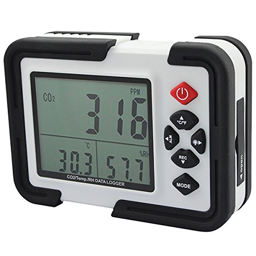 (Portable Digital CO2 Meter CO2 Monitor Detector HT-2000 Gas Analyzer 9999ppm)