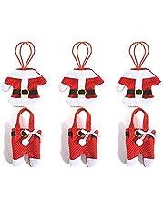 Cubiertos Acero Inoxidable Adornos de Navidad Protección Conjunto - RFAIKA Forma de 6 Piezas de Ropa, Tela no Tejida, Decoración de Navidad Inofensiva y Respetuosa Con el Medio Ambiente, Utensilios de Cocina, Que su Vida Sea Extraordinariamente Bella