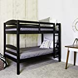 Pemberly Row Twin over Twin Bunk Bed in Black