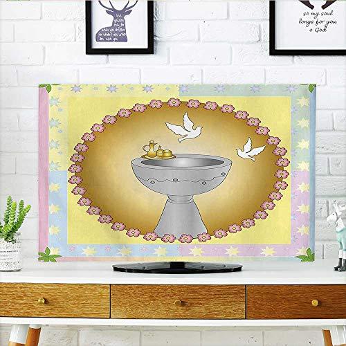 Auraisehome Protect Your TV My First Communion - Cartel de Bautizo, diseño de alas de Pan para Proteger tu televisor (Ancho...