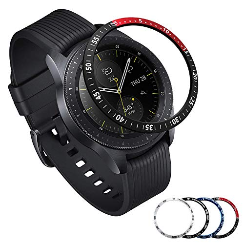 [Aluminum] Galaxy Watch 46mm Bezel Styling, Galaxy Gear S3 Frontier & Classic Bezel Ring Adhesive Cover Anti Scratch Aluminium Protection Tachymeter, Design for The Galaxy Watch Accessories - BRD