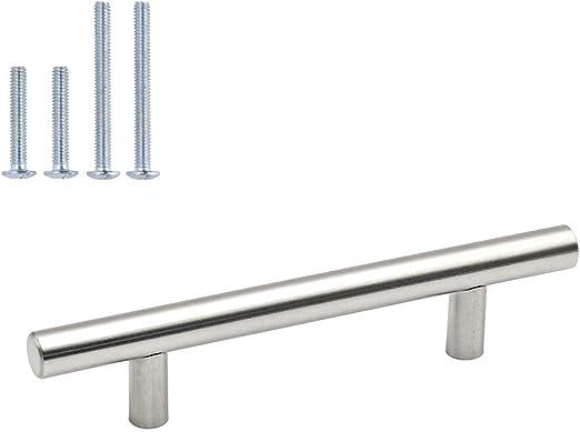 Qty 50 Brushed Satin Nickel Kitchen Cabinet Drawer Handle Pull Knob Hardware
