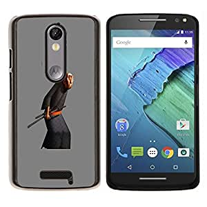 YiPhone /// Prima de resorte delgada de la cubierta del caso de Shell Armor - Viejo Artes Marciales Espada - Motorola Moto X3 3rd Generation