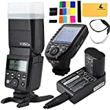 Godox V350S TTL 2.4G Camera Flash with Built-in Rechargeable 7.2V/2000mAh Li-ion Battery,Godox Xpro-s Flash Trigger for For Sony Camera