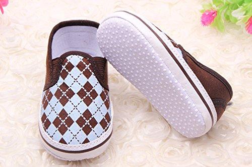YICHUN bebé zapatos de Premier Pas–Zapatos de ocio zapatos flexibles azulejo marrón Marron+Kaki Talla:Longueur de Semelle:12CM Marron+Bleu