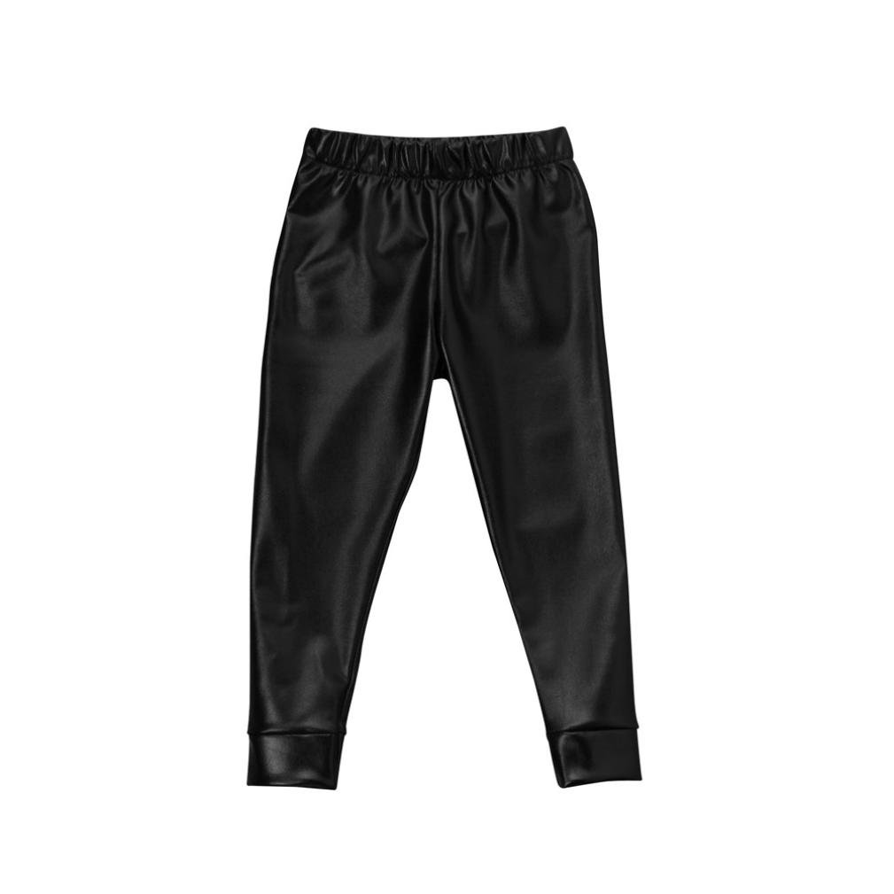 Byste Toddler Kids Baby Imitation Leather Legging Pants Fashion Trousers, Warm Soft Winter Pants 100)