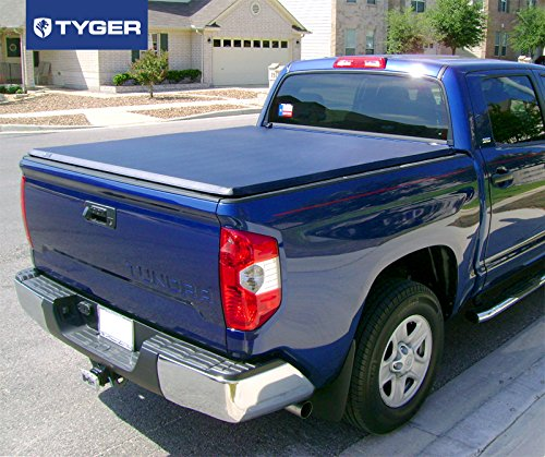 amazoncom tyger auto tgbc3t1432 trifold truck bed tonneau cover toyota tundra fleetside 55u0027 bed for models with or without the deckrail