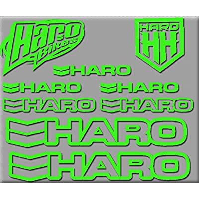 Ecoshirt NG-A438-5DIQ HARO Bikes R200 Stickers Aufkleber Decals Autocollants Adesivi, Green: Automotive
