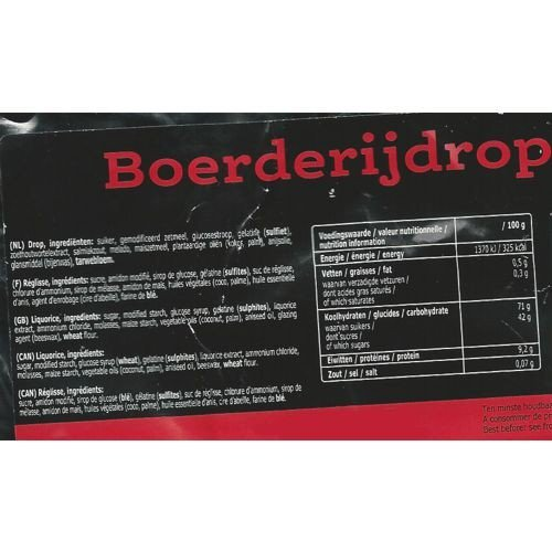 Jelly Beans & Gummy Candy Venco Boerderij Drop Hard Zout / Farm Licorice  Hard Salty Candy (1