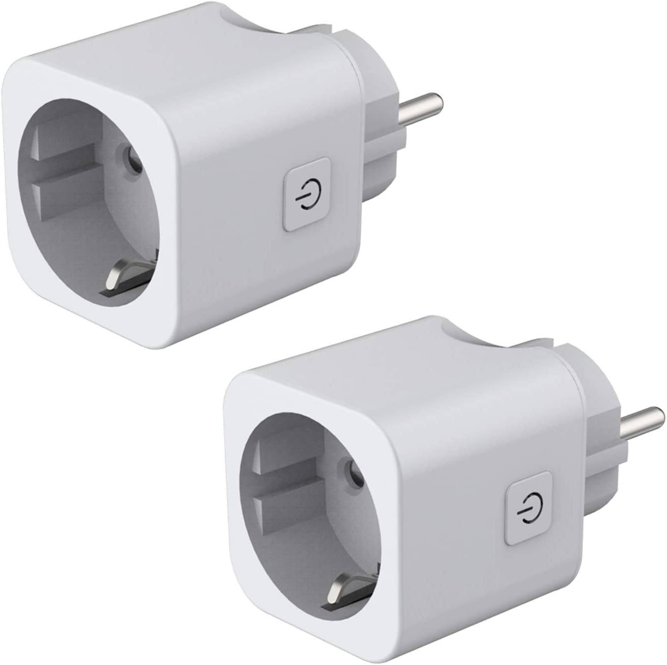 Enchufe Inteligente WiFi Smart Plug Control remoto No Requiere Hub,Toma de corriente inalámbrica para iOS Aplicación de Android Compatible con Google Home Amazon Alexa IFTTT(2 Pcs)