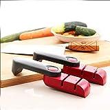 Kitchen Knife & Cutlery Ceramic Knife Sets - KC-KS01 Portable Camping 2 Stage Mini Kitchen Knife Sharpener Grinder Sharpening - Red - 1 x KCASA KC-KS01 Mini Knife Sharpener
