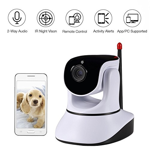 Nexgadget 720P HD Wireless Security IP Camera Pan Tilt with Two-Way Audio, Night Vision, Baby Pet Video Monitor Nanny Cam, Motion Detection P2P Network Camera by NEXGADGET