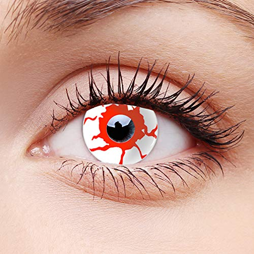 Halloween Contact Lenses GUHEE Colored Contact Lenses Zombie Makeup Eye Shadow -