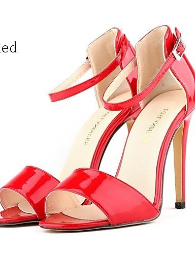 ShangYi Women's Shoes Leatherette Stiletto Heel Heels Sandals Party/More Colors Red iogG8gisWU