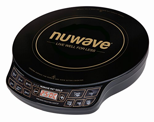 NuWave – PIC Gold Precision Induction Cooktop Hob | Portable 20cm heat resistance induction cooking surface with temperature and timer settings