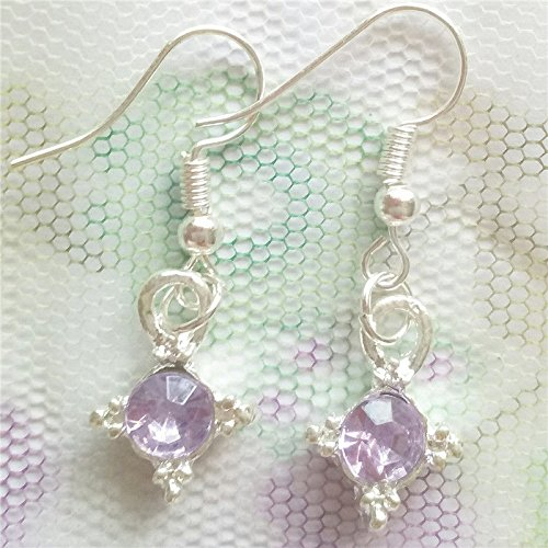 1 pair Women Ornament Fashion Accessories Charm Jewelry purple crystal Earring