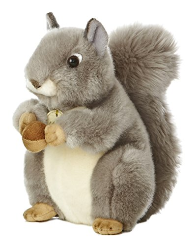 Plush Animal Miniature (Aurora World Miyoni Grey Squirrel 8