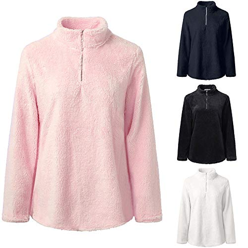Sweat Shirt Chandail Longue Montant Blanc GongzhuMM Courte Femmes Sweatshirts Pullover Polaire Cou EU Zipper 40 Sweats Manche Femmes Sweater Pulll 34 wqFaCnPav