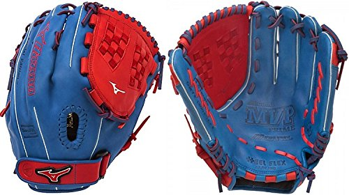(Mizuno GMVP1250PSEF4 MVP Prime SE Gloves, Royal/Red, Right Hand Throw)