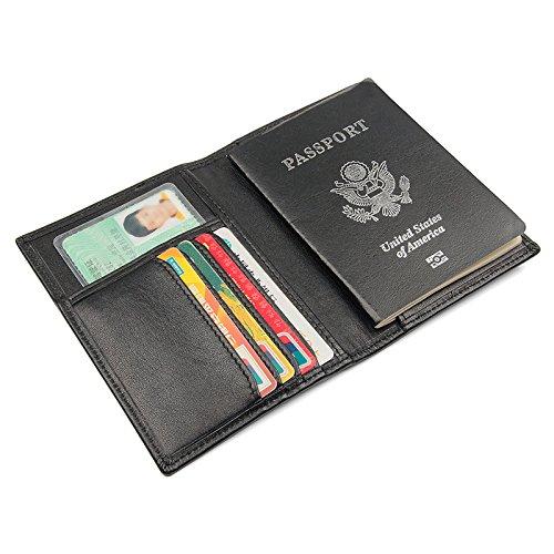 Portafoglio Rfid Black Documenti Pelle In Zjp Da Biglietti Passaporto dzsw Borsa Porta Viaggio 7FPFqw