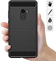 AICEK Funda Xiaomi Mi Mix 2, Negro Silicona Fundas para Xiaomi Mi ...