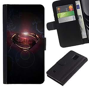Paccase / Billetera de Cuero Caso del tirón Titular de la tarjeta Carcasa Funda para - Sign S Gold Grey Metal Brushed - Samsung Galaxy Note 4 SM-N910