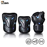 JBM Christmas Gifts Presents Special Multi Sport Protective Gear Knee Pads and Elbow Pads with Wrist Guards for Cycling, Skateboard, Scooter, Bmx, Bike (Blue and Dark, Kids / Children)