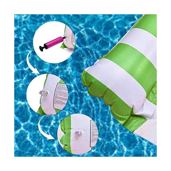 51qRsfgiekL J TOHLO Aufblasbare Wasserhängematte Schwimmbrett 4in1 Wasserhängematte Lounge Sessel Pool Lounge Luftmatratze Pool…