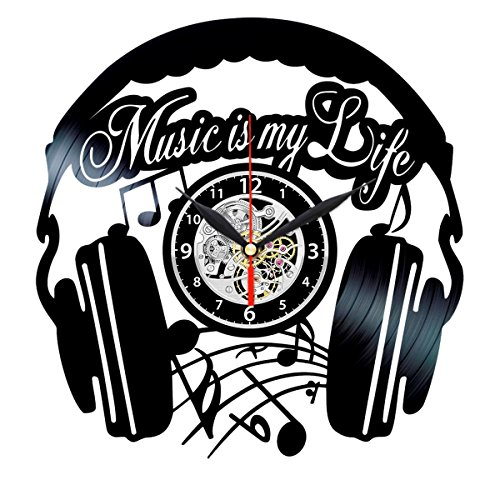 Rapper With The Clock (Music Vinyl Clock - Record Art Wall Decor - Music Gifts for Women - Music is My)