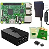 Viaboot Raspberry Pi 3 Power Kit — UL Listed 2.5A Power Supply, Premium Black Case Edition