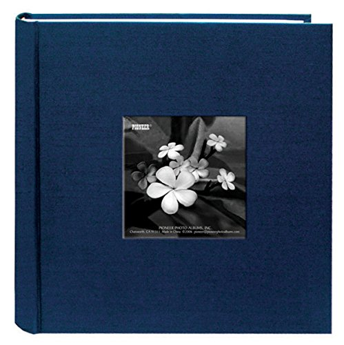 Pioneer Photo Albums 200 Pocket Lagoon Silk Fabric Frame Cover Photo Album for 4 by 6-Inch Prints